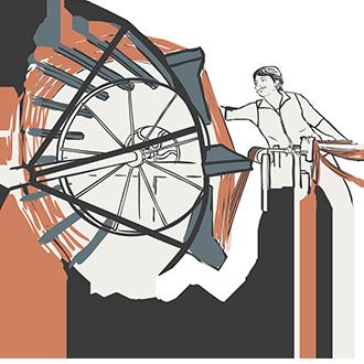 Skye Weavers, warping, Moblie