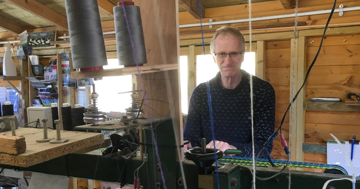 Roger at the loom