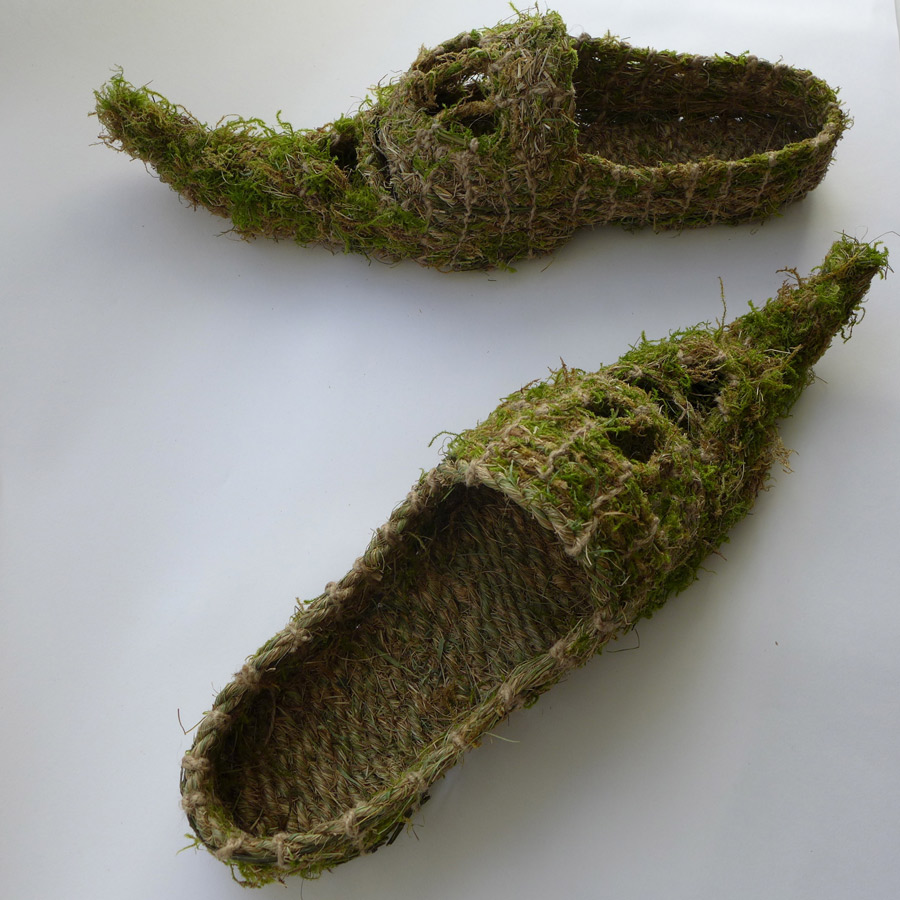 woven slippers made from grasses
