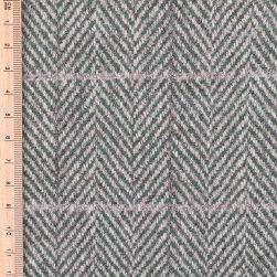 Green Windowpane Tweed