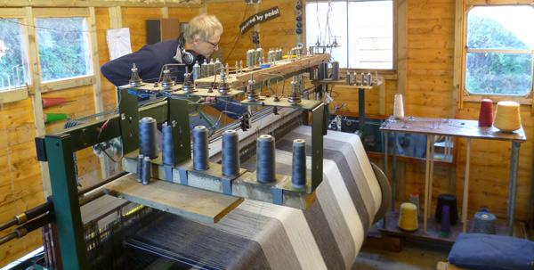 roger starts weaving