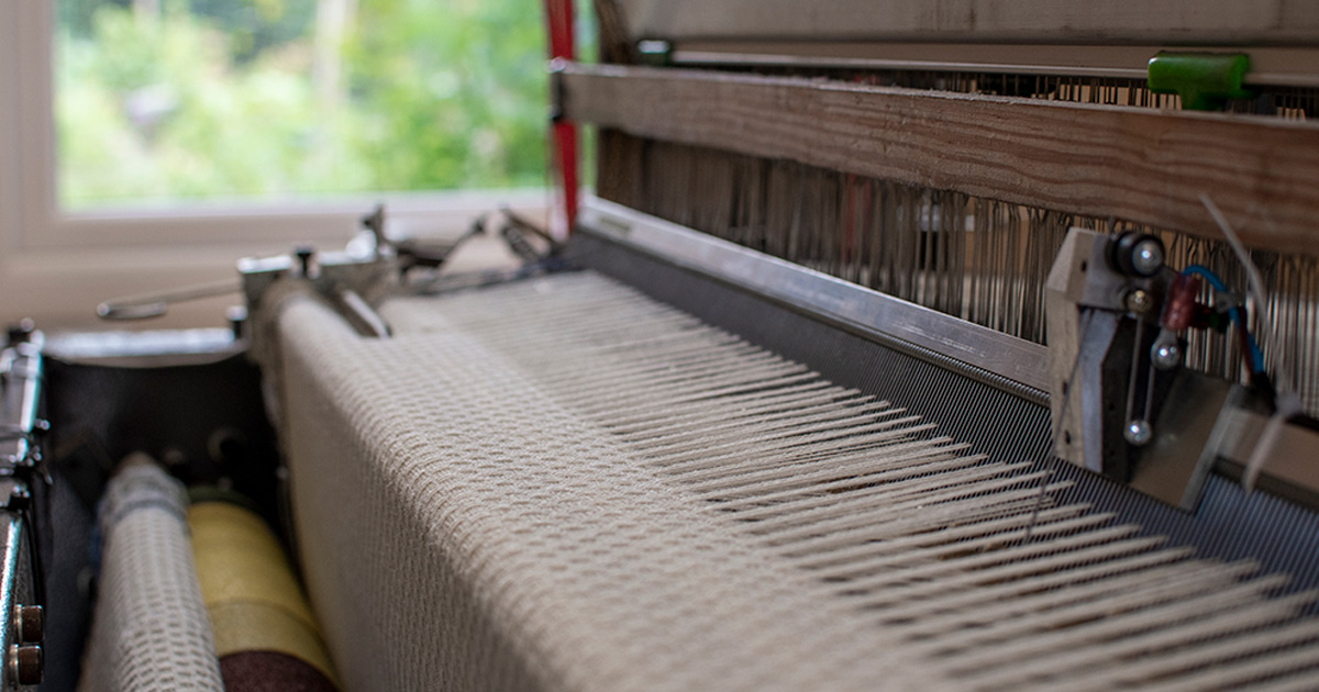 weaving loomhuck lace shawls on loom