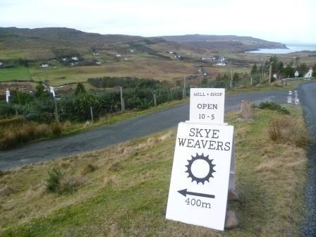 Skye Weavers road sign