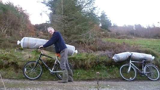 skye weavers pieces to top on bike