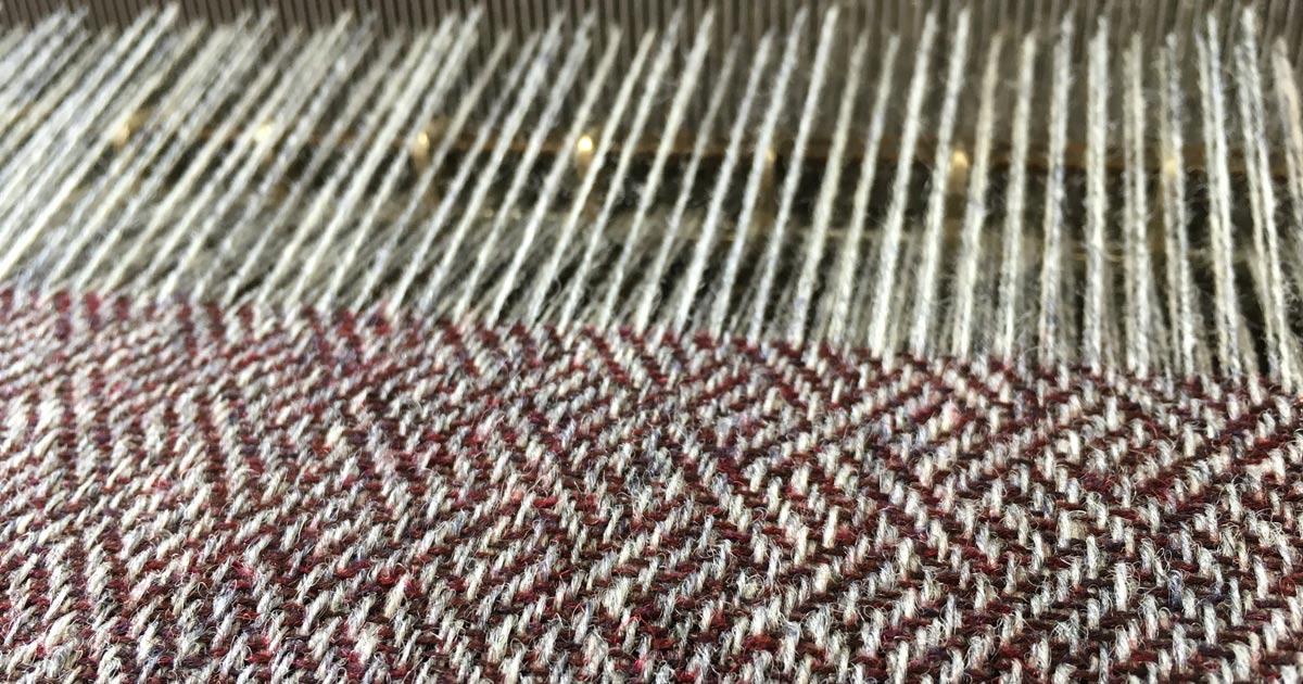 Tweed on loom