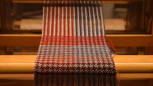 skye weavers sample on loom