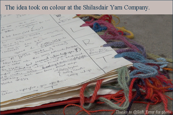 natural dyes by shilasdair yarn company on skye