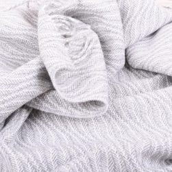 baby blanket ebb tide grey and white