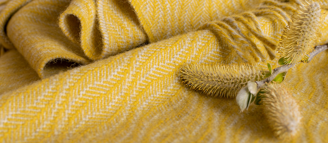 baby blanket shore lichen yellow