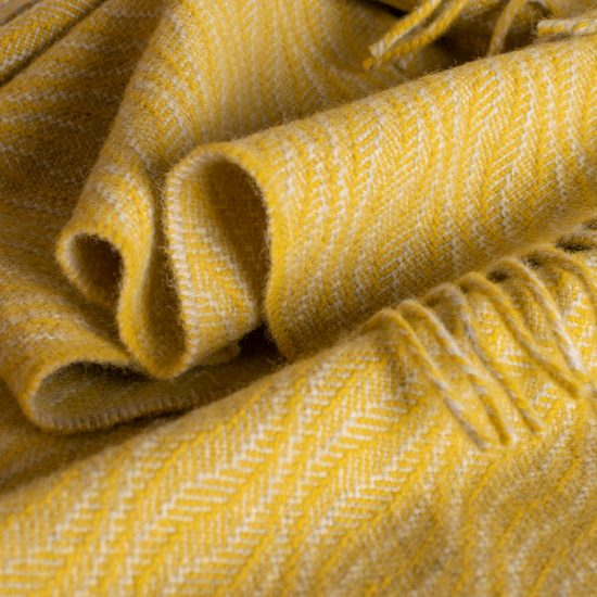 baby blanket shore lichen yellow and soft grey