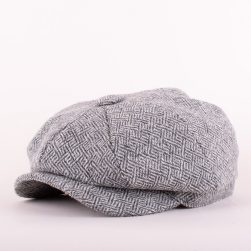 baker boy cap plaited twill pebble