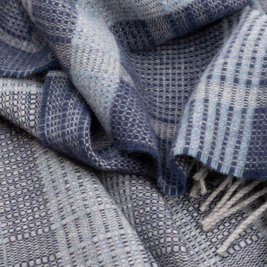 bauhaus scarf blue
