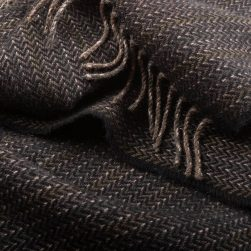 close up of dark grey scarf
