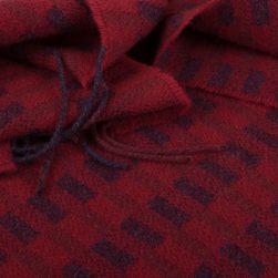 block pattern scarf berry