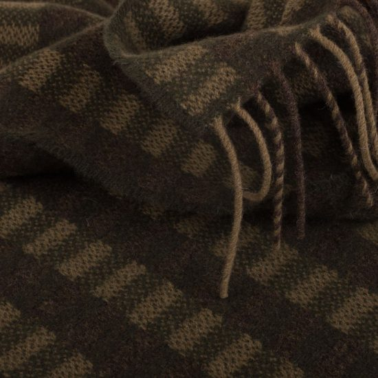 block pattern scarf moss