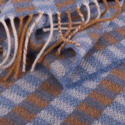 block pattern scarf seashore