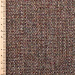 Close up of reddish brown tweed