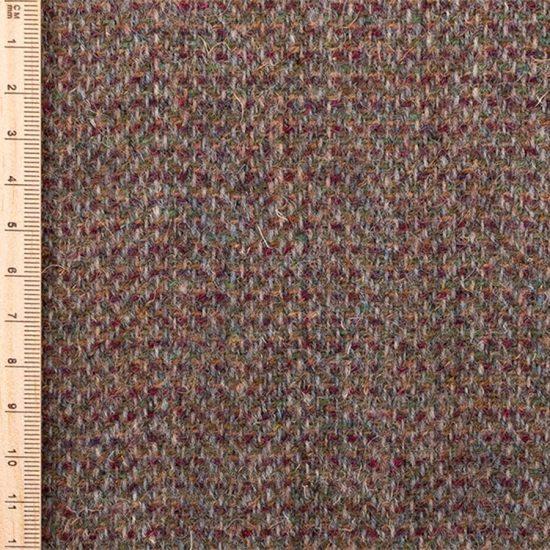 Close up of reddish brown tweed