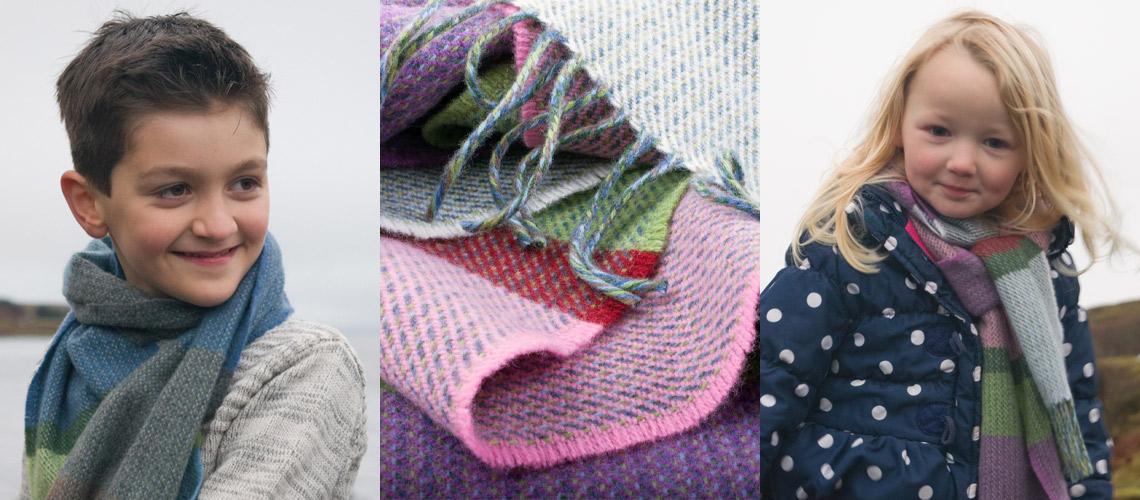 skye weavers children's scarves
