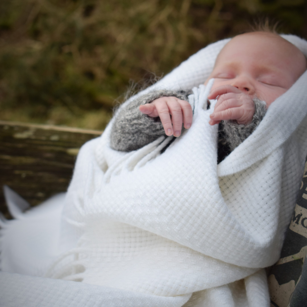 skye weavers christening blanket