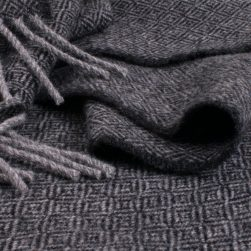 diamond scarf black