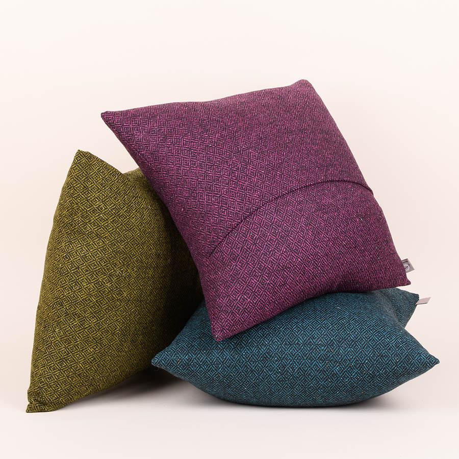 diamond tweed cushions