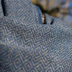diamond weave wrap blue