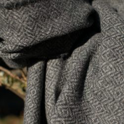diamond weave wrap charcoal