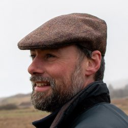 flat cap dark oak tweed
