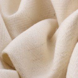 Skye Weavers Glendale Tweed, Natural White Herringbone