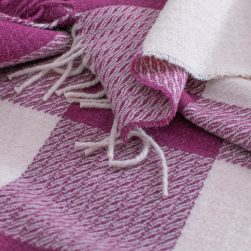 skye wool throw wild rose