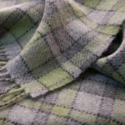 map lichen scarf green