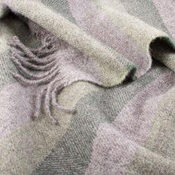 Skye wool throw green stripes