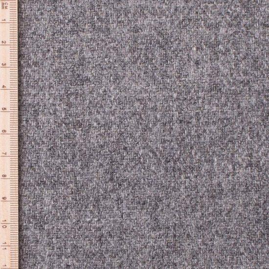 close up of skye weavers grey herringbone tweed
