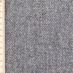 grey sea herringbone tweed