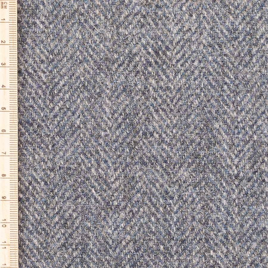 grey sea herringbone tweed