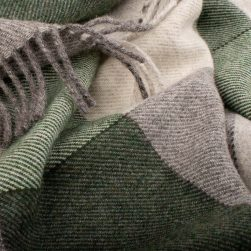 Detail of green and grey weave