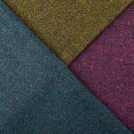 midnight diamond cushion tweeds close up