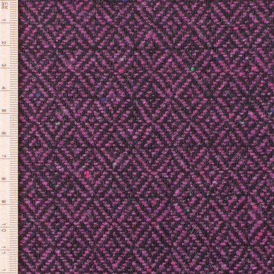 close up of skye weavers midnight heather diamond tweed