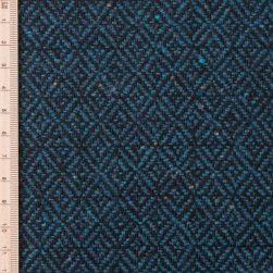 close up of skye weavers midnight loch diamond tweed