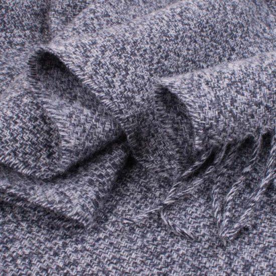 mottled denim scarf