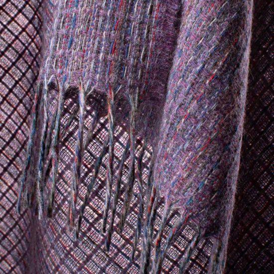 multicolour shawl heather detail