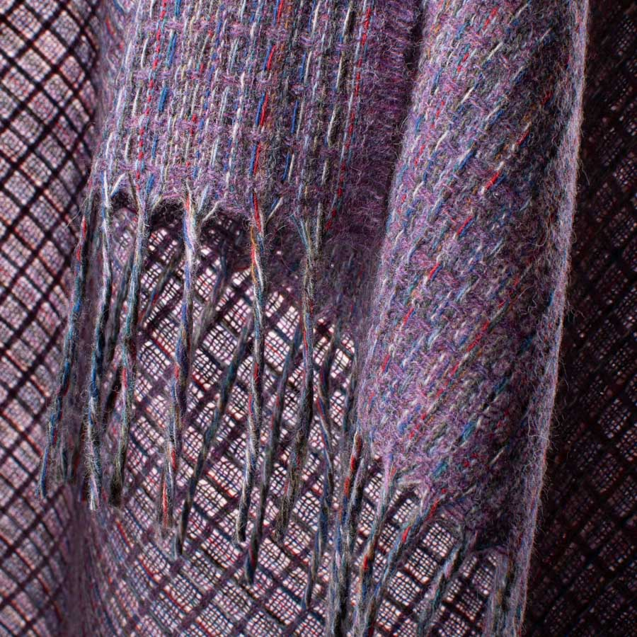 multicolour shawl heather detail