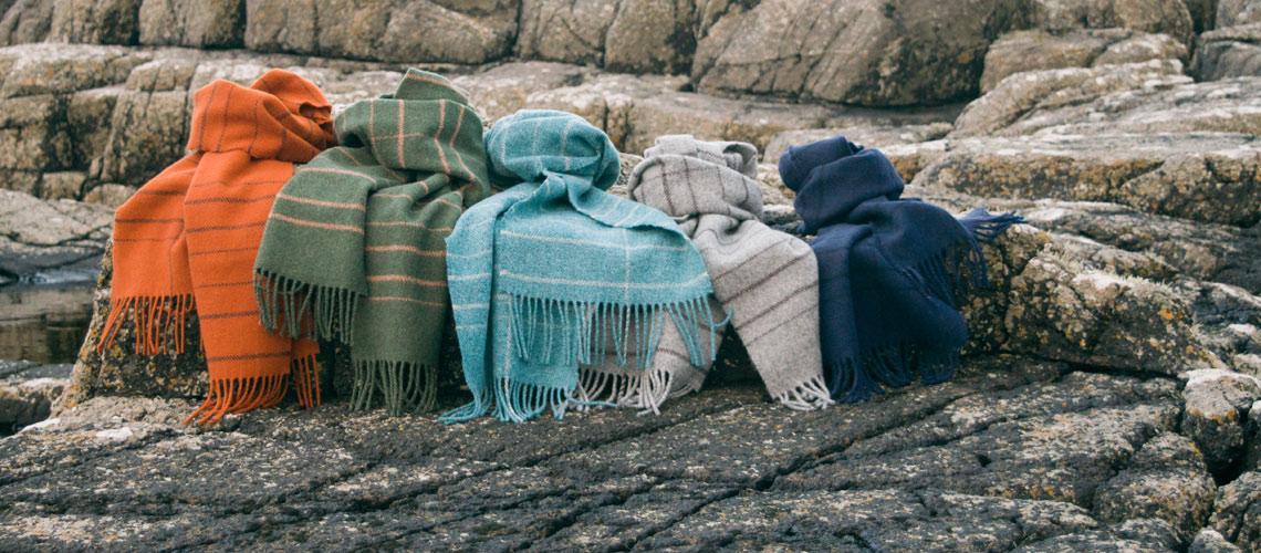 skye weavers neist rock scarf range