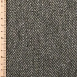 close up of pine herringbone tweed