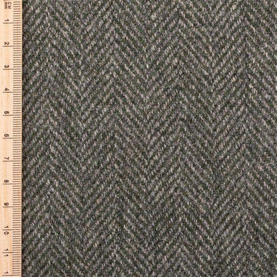close up of pine herringbone tweed