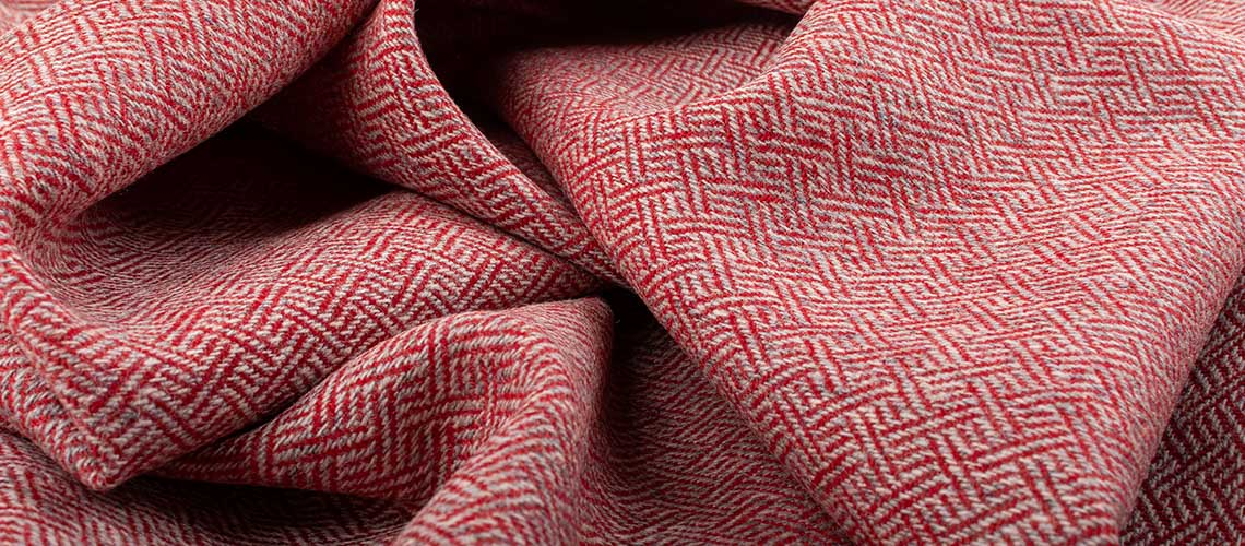 skye weavers plaited twill tweed red