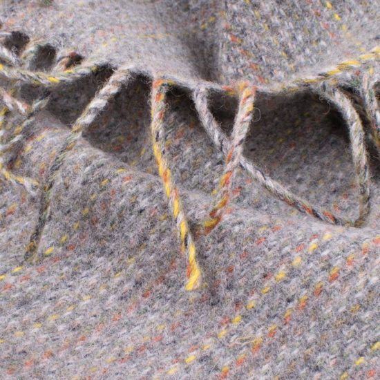 grey rainbow scarf close up picture