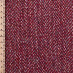 Skye Weavers Red Herringbone Tweed