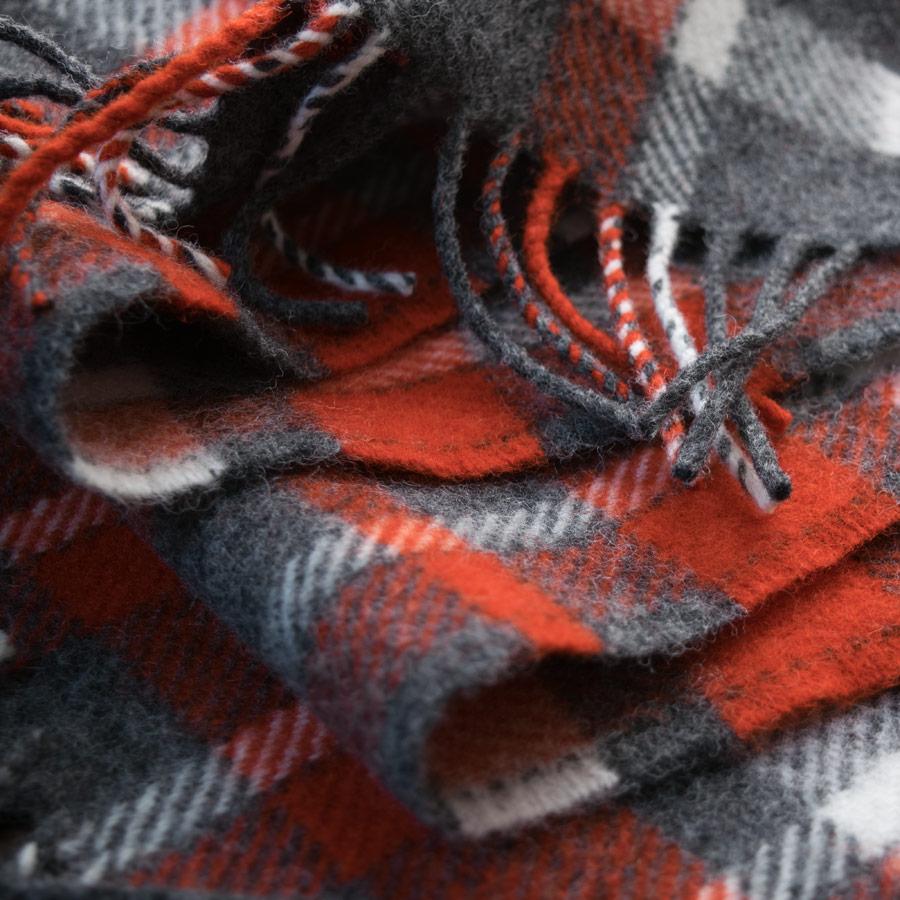 map lichen scarf red